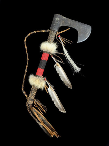 Navajo Leather Wrapped Steel Lewis and Clark Style Tomahawk