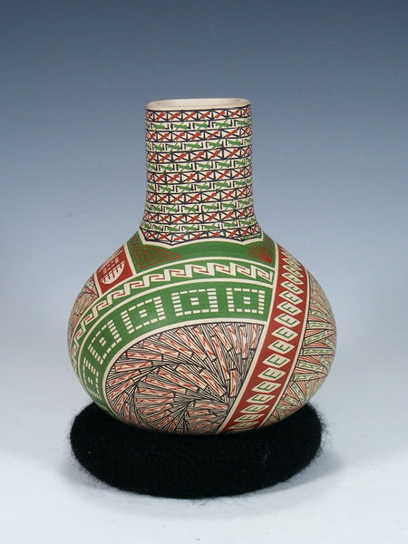 Hand Coiled Mata Ortiz Pottery Vase