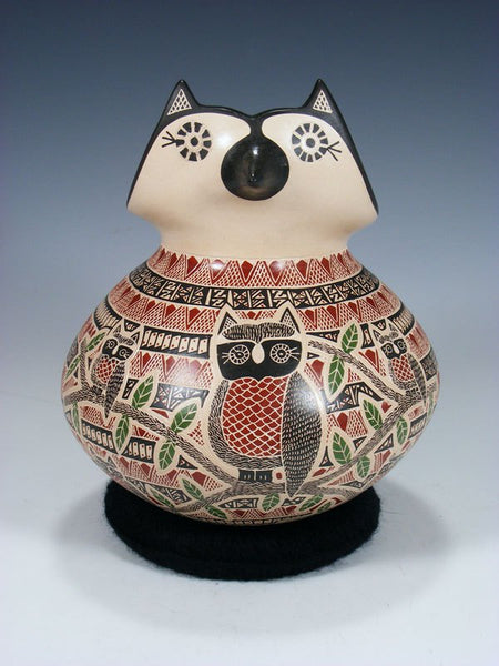 Mata Ortiz Hand Coiled Owl Effigy Pottery