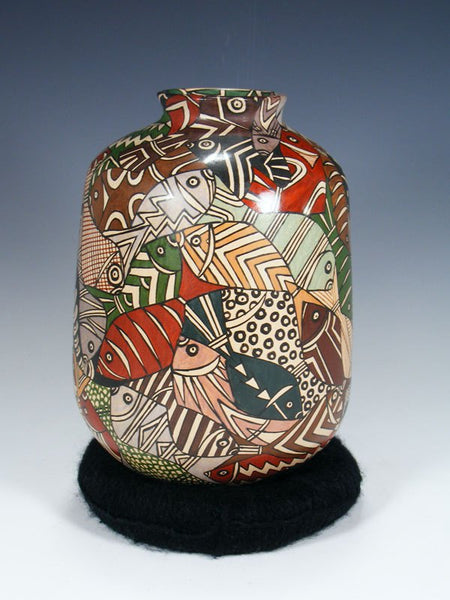 Mata Ortiz Hand Coiled Painted Pottery
