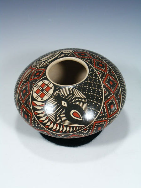 Mata Ortiz Paquime Pottery Spider Seed Pot