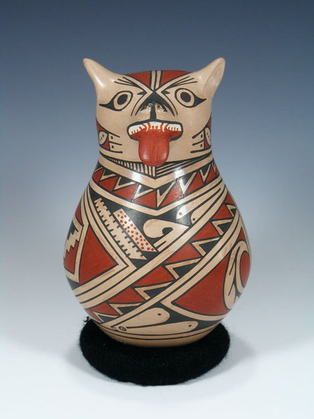 Mata Ortiz Hand Coiled Pottery Bear Effigy
