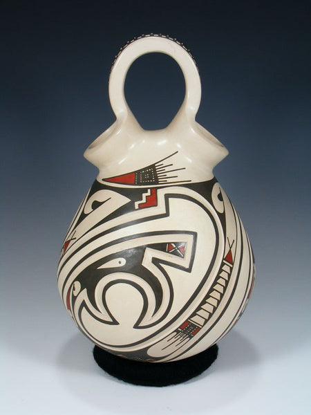 Mata Ortiz Hand Coiled Pottery Wedding Vase
