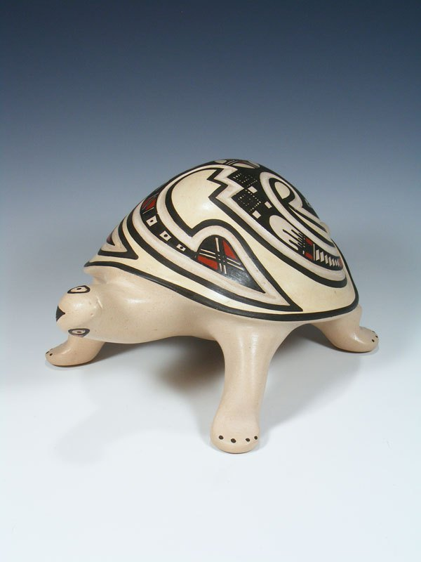 Mata Ortiz Hand Coiled Turtle Effigy Pottery