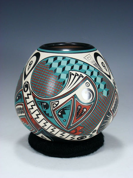 Mata Ortiz Hand Coiled and Painted Pottery