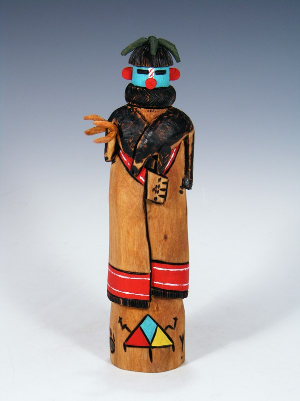 Carved Zuni Deer Dancer Kachina Doll