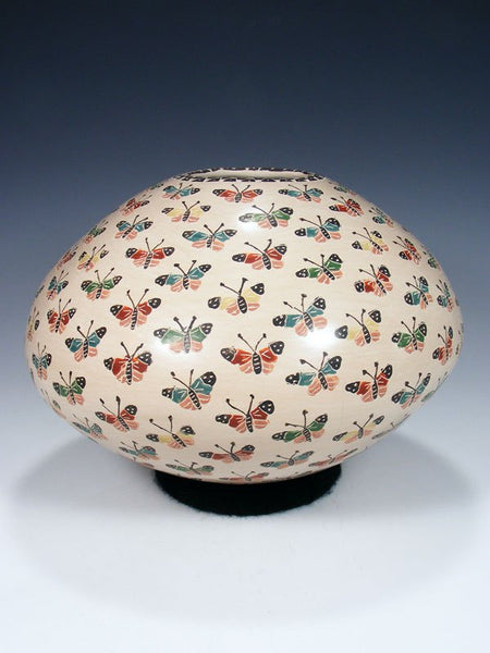 Mata Ortiz Butterfly Pottery Seed Pot