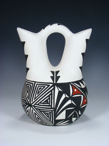 Acoma Pueblo Hand Painted Pottery Wedding Vase