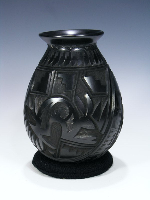 Mata Ortiz Hand Coiled Carved Pottery