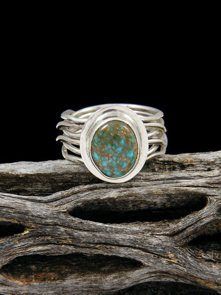 Apache Blue Turquoise Ring, Size 5 1/2