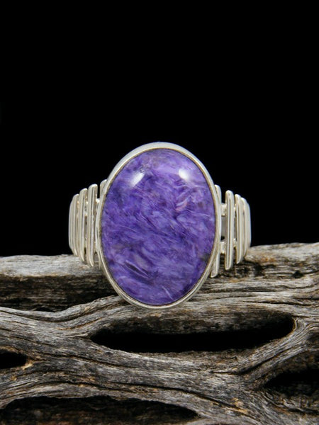 Purple Charoite Ring, Size 8