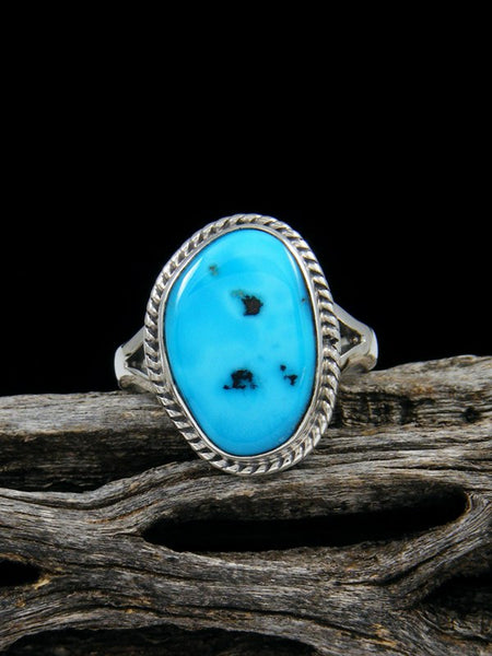 Sleeping Beauty Turquoise Ring, Size 6 1/2