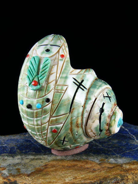 Green Snail Shell Maiden Zuni Fetish