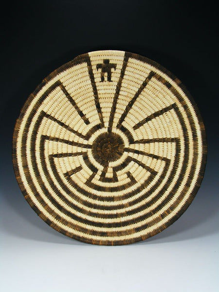 Hand Woven Tohono O'Odham Man in the Maze Basket