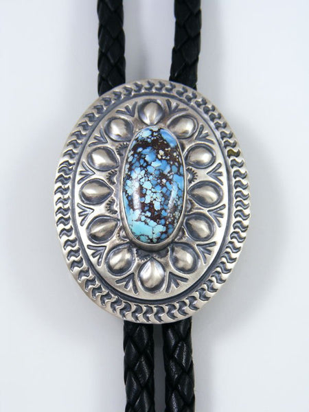 Native American Sterling Silver Golden Hill Turquoise Bolo Tie