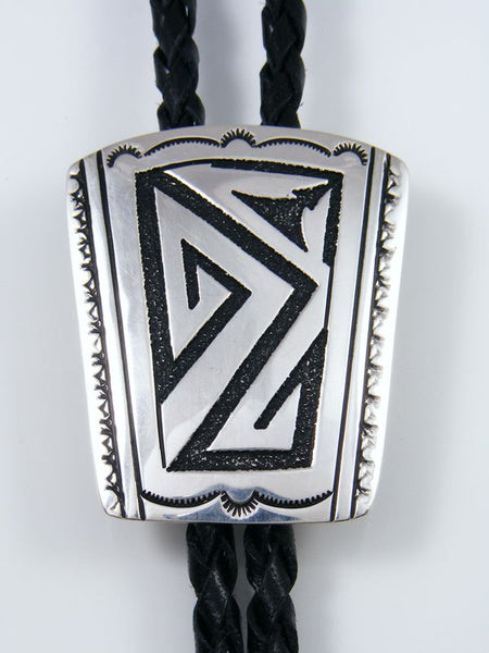 Native American Sterling Silver Overlay Bolo