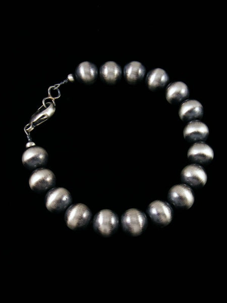 Native American Sterling Silver Beaded Bracelet