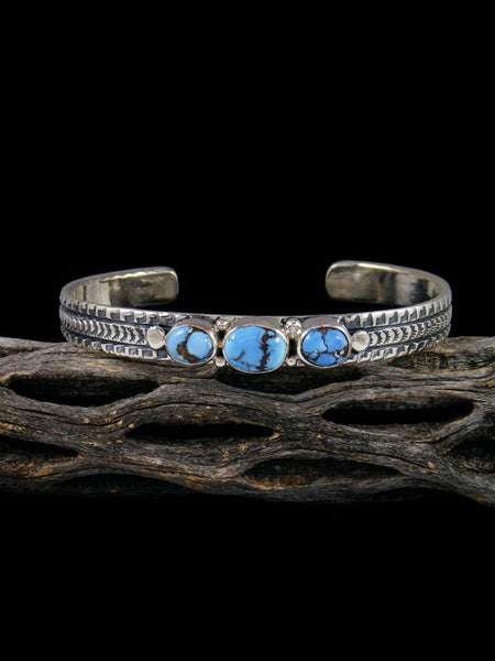 Native American Sterling Silver Natural Golden Hill Turquoise Bracelet