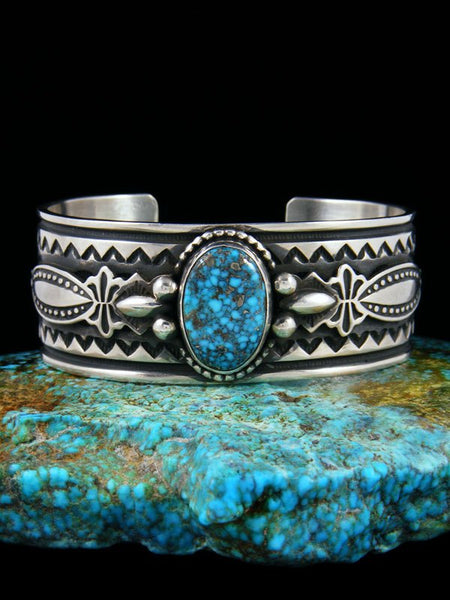 Native American Indian Jewelry Kingman Web Turquoise Bracelet