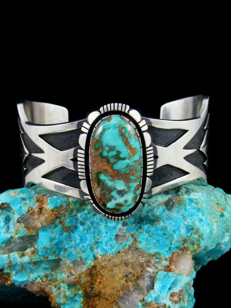 Native American Heavy Natural Royston Turquoise Cuff Bracelet