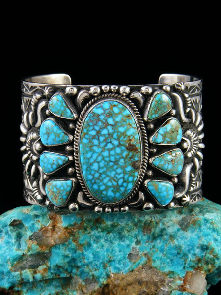 Native American Jewelry Natural Kingman Turquoise Cuff Bracelet