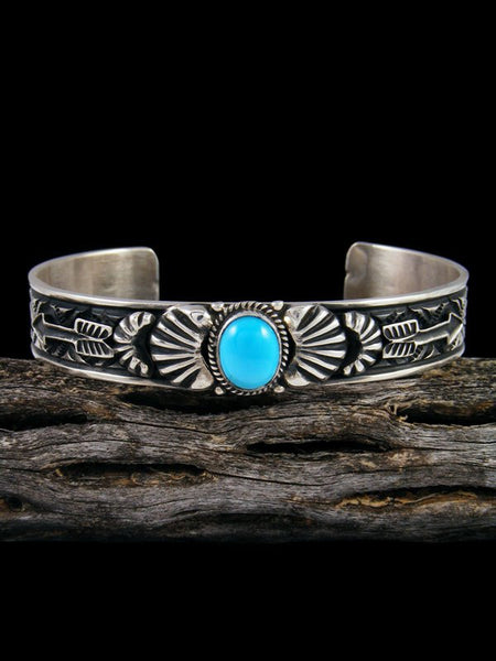 Native American Indian Jewelry Sleeping Beauty Turquoise Cuff Bracelet