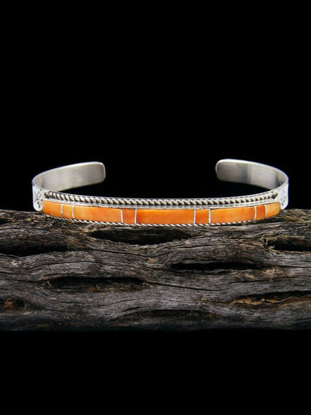 Native American Indian Inlay Spiny Oyster Bracelet