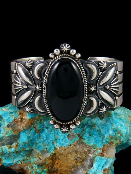 Native American Indian Jewelry Onyx Cuff Bracelet