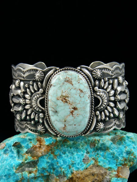Native American Sterling Silver Dry Creek Turquoise Bracelet