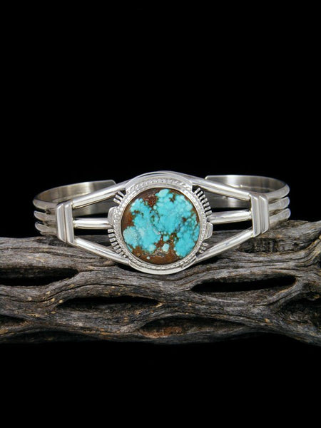 Native American Sierra Nevada Turquoise Sterling Silver Cuff Bracelet