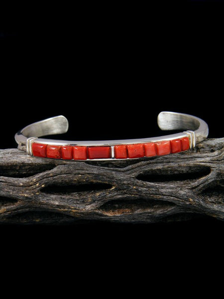 Native American Indian Spiny Oyster Cobblestone Inlay Bracelet