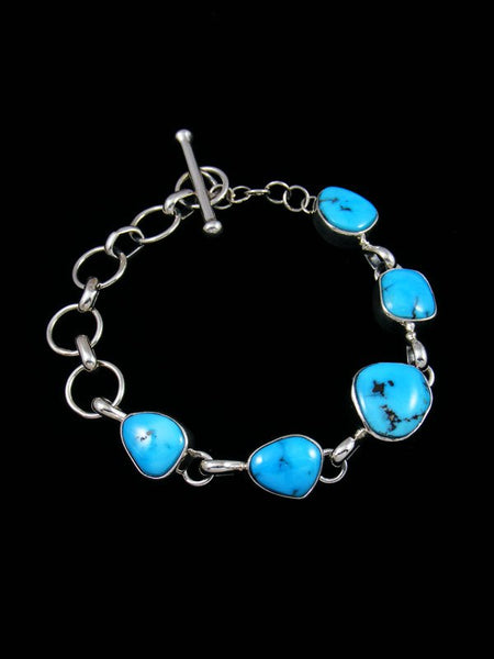 Native American Sleeping Beauty Turquoise Link Bracelet