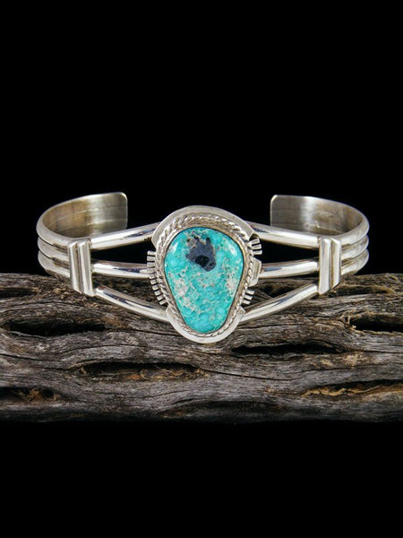 White Water Turquoise Sterling Silver Cuff Bracelet
