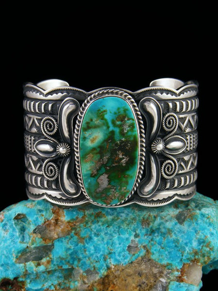 Native American Indian Jewelry Sterling Silver Royston Turquoise Bracelet