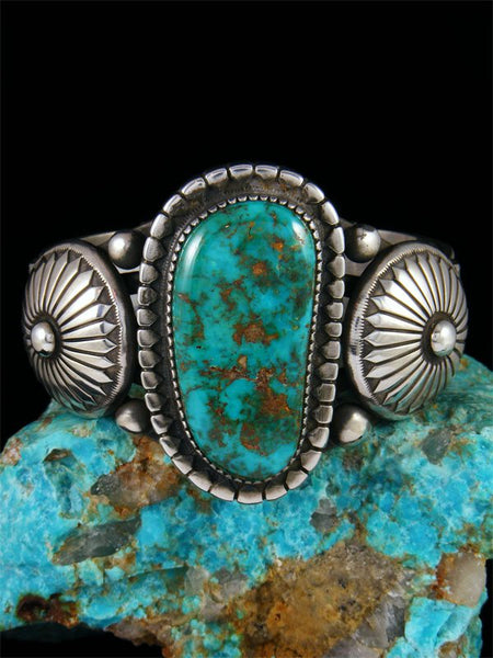 Native American Carico Lake Turquoise Cuff Bracelet