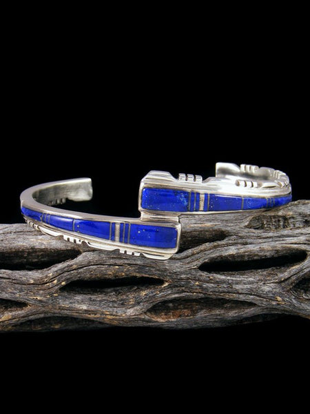 Native American Indian Blue Lapis Inlay Bracelet