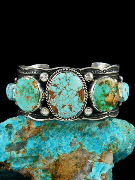 Navajo Sterling Silver Natural Royston Turquoise Cuff Bracelet