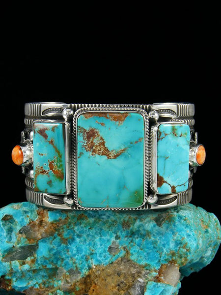 Native American Indian Jewelry Pilot Mountain Turquoise Cuff Bracelet
