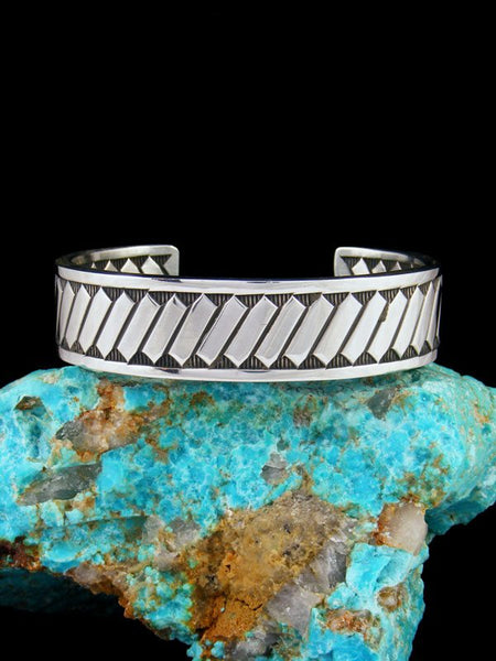 Native American Jewelry Sterling Silver Cuff Bracelet