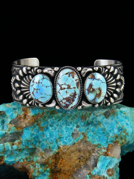 Native American Jewelry Golden Hill Turquoise Cuff Bracelet