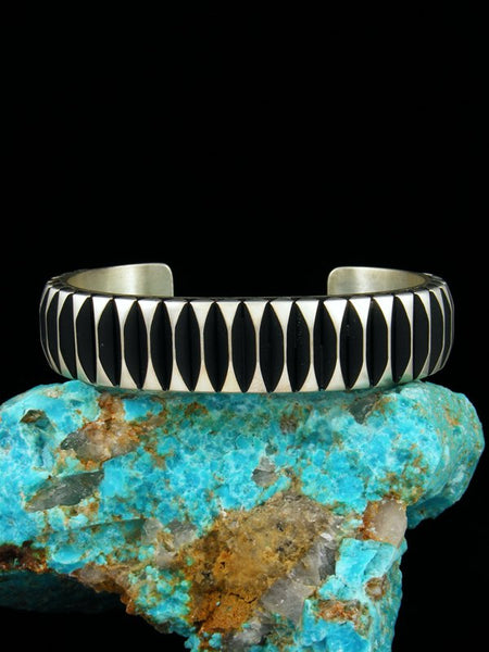 Native American Heavy Sterling Silver Cuff Bracelet
