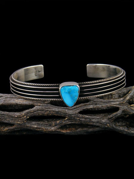 Native American Sterling Silver and Turquoise Cuff Bracelet