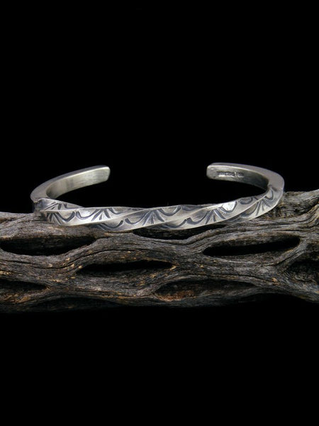 Native American Twisted Sterling Silver Cuff Bracelet