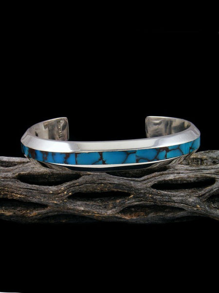 Native American Sterling Silver Egyptian Prince Turquoise Cuff Bracelet