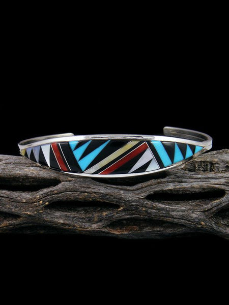 Native American Zuni Pueblo Multistone Inlay Bracelet