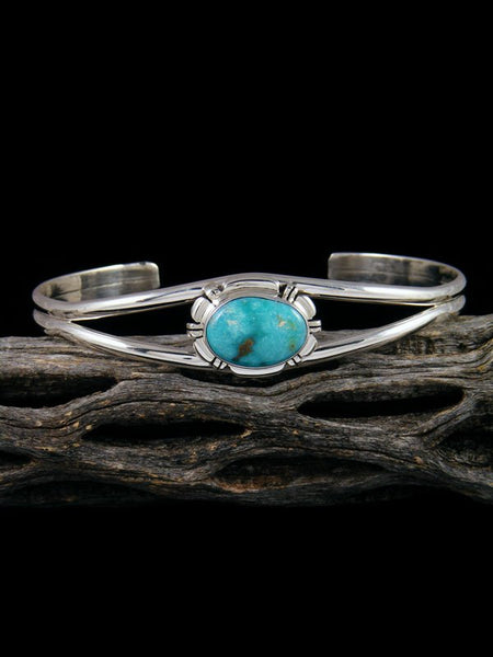 Native American Royston Turquoise Sterling Silver Bracelet
