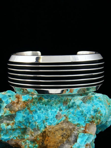 Heavy Native American Sterling Silver Cuff Bracelet