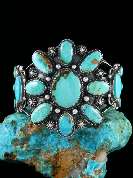 Native American Sterling Silver Natural Royston Turquoise Cuff Bracelet