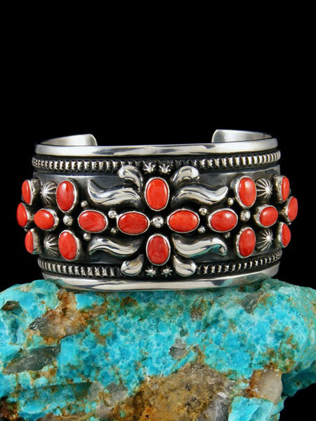 Native American Red Spiny Oyster Cuff Bracelet