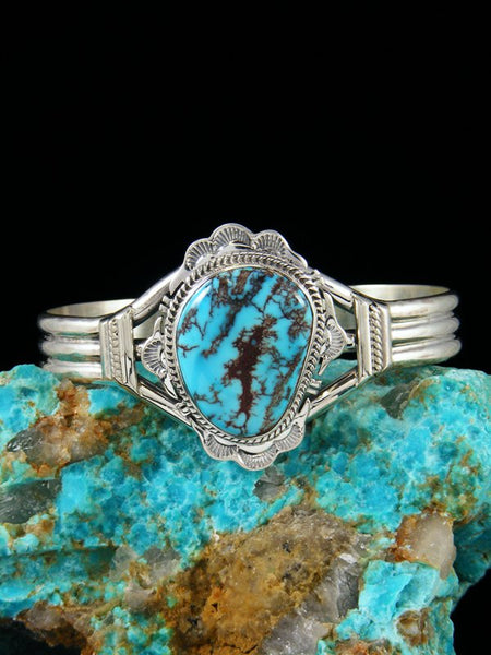 Navajo Persian Turquoise Sterling Silver Bracelet